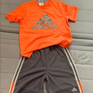 Boys size 7 Adidas two piece active wear set